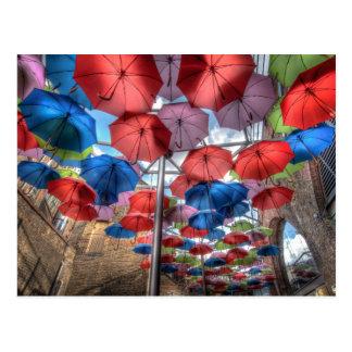 Borough Market umbrella art, London Postcard