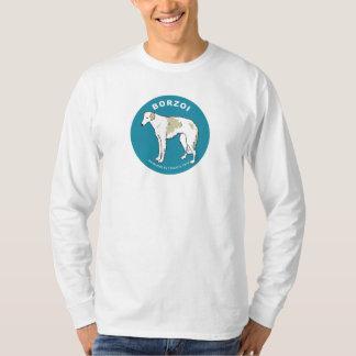 Borzoi Long SleeveT-shirt (White) Tee Shirts