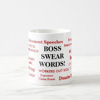 Boss Gift - Funniest Rudest Boss Mug - Swear Words