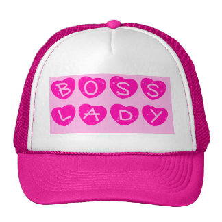 Boss Lady Sparkle Hearts Trucker Hat