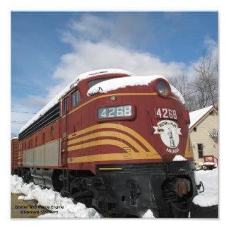 Boston and Maine Engine Photograph