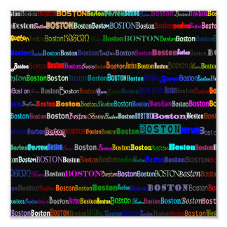 Boston Text Design I Photo Print