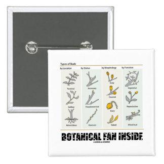 Botanical Fan Inside (Types Of Buds) 15 Cm Square Badge