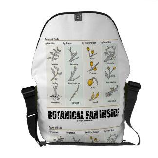 Botanical Fan Inside (Types Of Buds) Messenger Bag