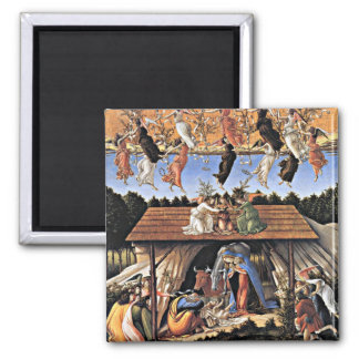 Botticelli: The Mystical Nativity Square Magnet