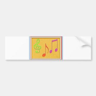 Bound to Sound Good -  Dancing Music Symbols Bumper Sticker