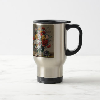 Bouquet of paw Gee of flower and violet Stainless Steel Travel Mug