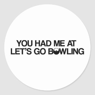 Bowling Products Round Sticker