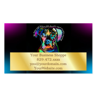 Boxer Dog Pop Art Style for Dog Lovers Pack Of Standard Business Cards
