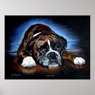 Boxer Dog print, poster