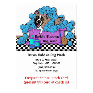 Boxer Pet Grooming Frequent Bather Punch Card Pack Of Chubby Business Cards