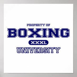 Boxing University Poster