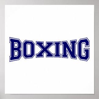 Boxing University Style Poster