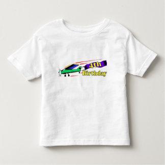 Boy 4th birthday aeroplane shirt