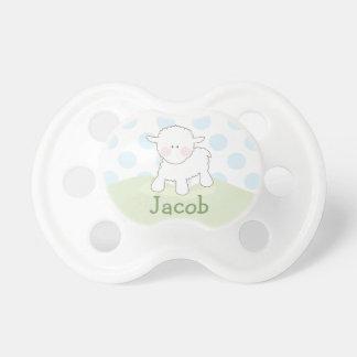Boy Little Lamb   Personalized Pacifier