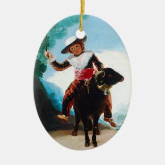 Boy on a Ram Francisco José de Goya Ceramic Oval Decoration