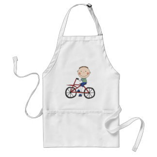 Boy on Bicycle Tshirts and Gifts Standard Apron