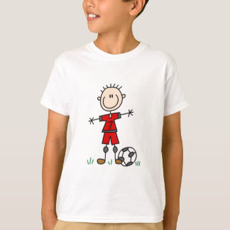 Boy Red Uniform Soccer T-shirts and Gifts