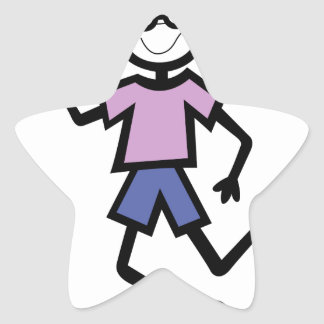 Boy with glasses star sticker