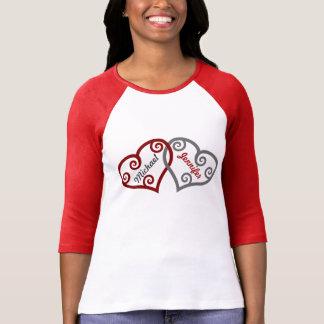 Boyfriend Girlfriend Name Custom Heart Valentine Tee Shirt