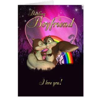 Boyfriend Valentine's Day Card With Cute Love Squi