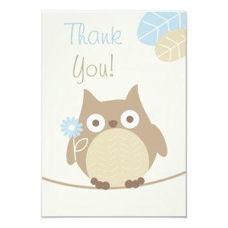 Boys Owl Baby Shower Thank You 9 Cm X 13 Cm Invitation Card