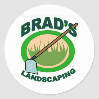 Brad's Landscaping Extract Movie Round Sticker