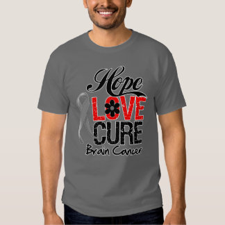 Brain Cancer Hope Love Cure Shirt