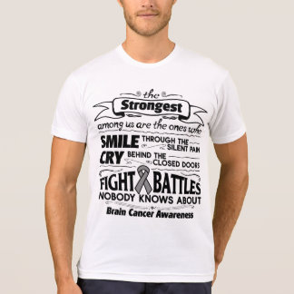 Brain Cancer Strongest Among Us T Shirts