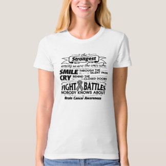 Brain Cancer Strongest Among Us T-shirts