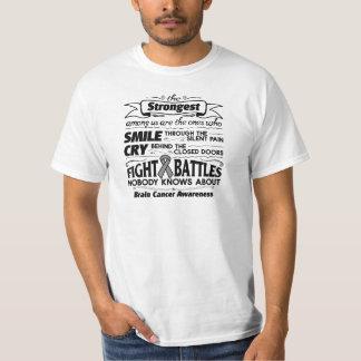 Brain Cancer Strongest Among Us Tee Shirt