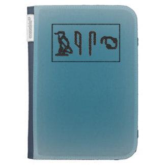 Brain Hieroglyphics (worn blue) Kindle Cases