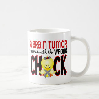 Brain Tumor Messed With The Wrong Chick Basic White Mug
