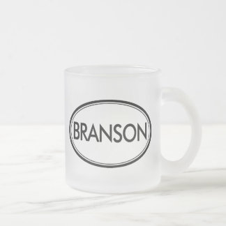 Branson Frosted Glass Mug