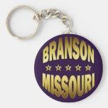 BRANSON, MISSOURI BASIC ROUND BUTTON KEY RING