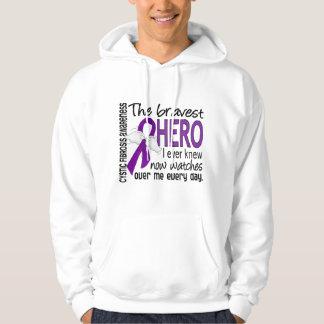 Bravest Hero I Ever Knew Cystic Fibrosis Hooded Sweatshirt