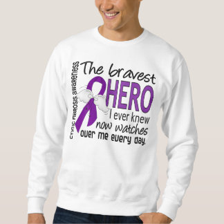 Bravest Hero I Ever Knew Cystic Fibrosis Pull Over Sweatshirts