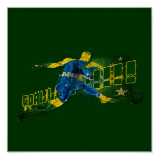 Brazil blood flesh and glory soccer futebol sports poster