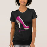 Breast Cancer Awareness Glitter Pearl Pump Tees
