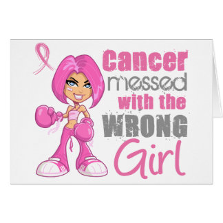 Breast Cancer Combat Girl 1 Greeting Card