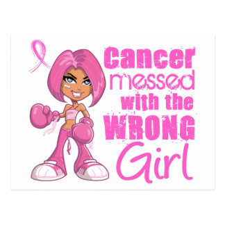 Breast Cancer Combat Girl 1 Postcard