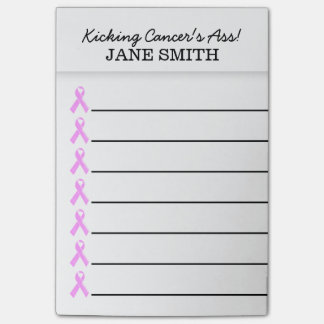 Breast cancer kick it's ass | Personalize Post-it® Notes