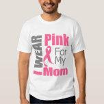Breast Cancer Ribbon I Wear Pink Mum Tee Shirts