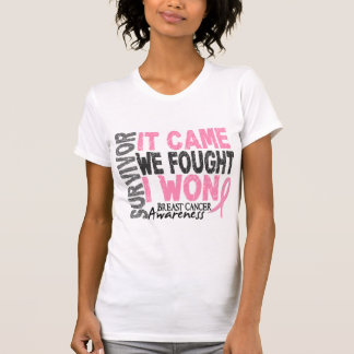 Breast Cancer Survivor It Came We Fought I Won Shirts