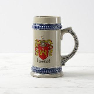 Brennan Coat of Arms Stein / Brennan Family Crest Beer Steins