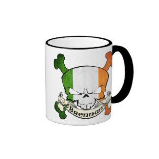Brennan Irish Skull Ringer Mug