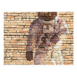 Brick Spaceman Postcard