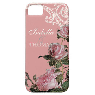 Bridal Shower Gift Matching, Trellis Rose Vintage Case For The iPhone 5