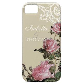 Bridal Shower Gift Matching, Trellis Rose Vintage iPhone 5 Cover