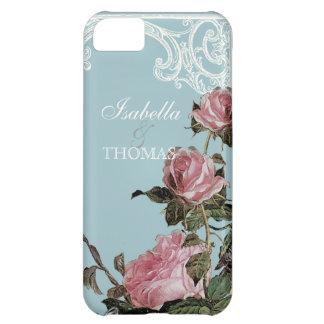 Bridal Shower Gift Matching, Trellis Rose Vintage iPhone 5C Case